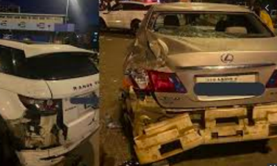 JUST IN: How PHCN Truck Rammed Into #EndSARS Protesters Cars At Lekki Toll Gate [Video/Photos]