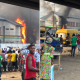 HAPPENING NOW!!! Orile Igamu Police Station On Fire - #EndPoliceBrutalityinNigeraNOW [PHOTOS/VIDEO]