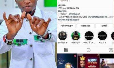 Laycon Breaks The Internet With 1.8m Instagram Followers - #LayconXAccolades