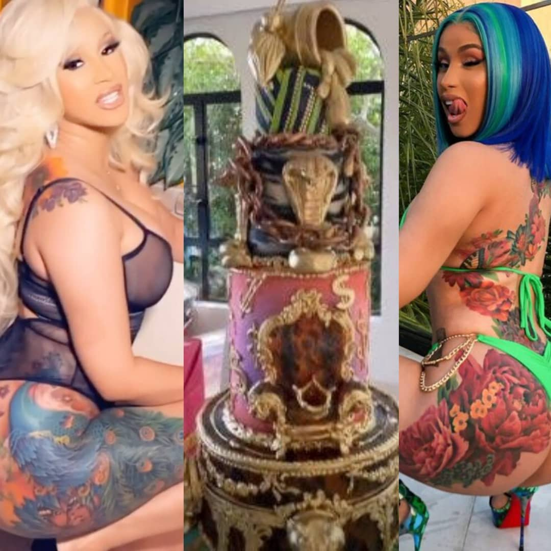 American Rapper, Cardi B Celebrates 28th Birthday With Cakes And Sex Toys