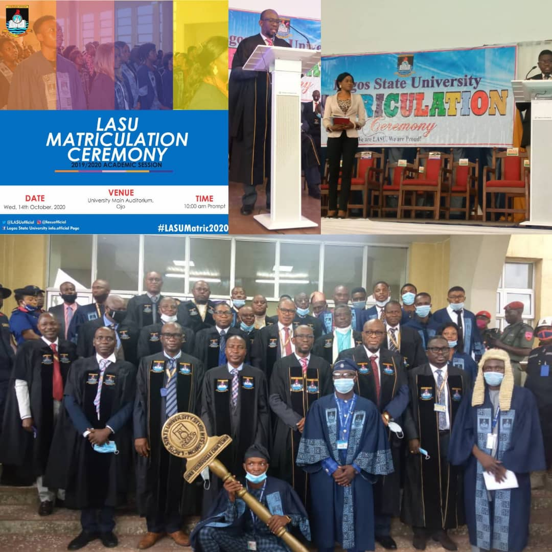 2020/21 LASU ACADEMIC SESSION: VC's Address To Matriculating Student