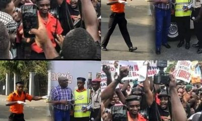 See Why Calabar #EndSARS Protesters Celebrated Number 1 Traffic Warden [PHOTOS]