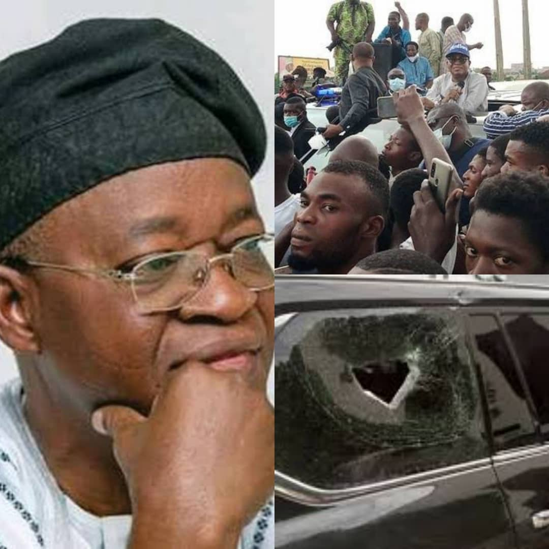 How Thugs Attacked Governor Oyetola At #EndSARS Protest In Osogbo [PHOTOS]