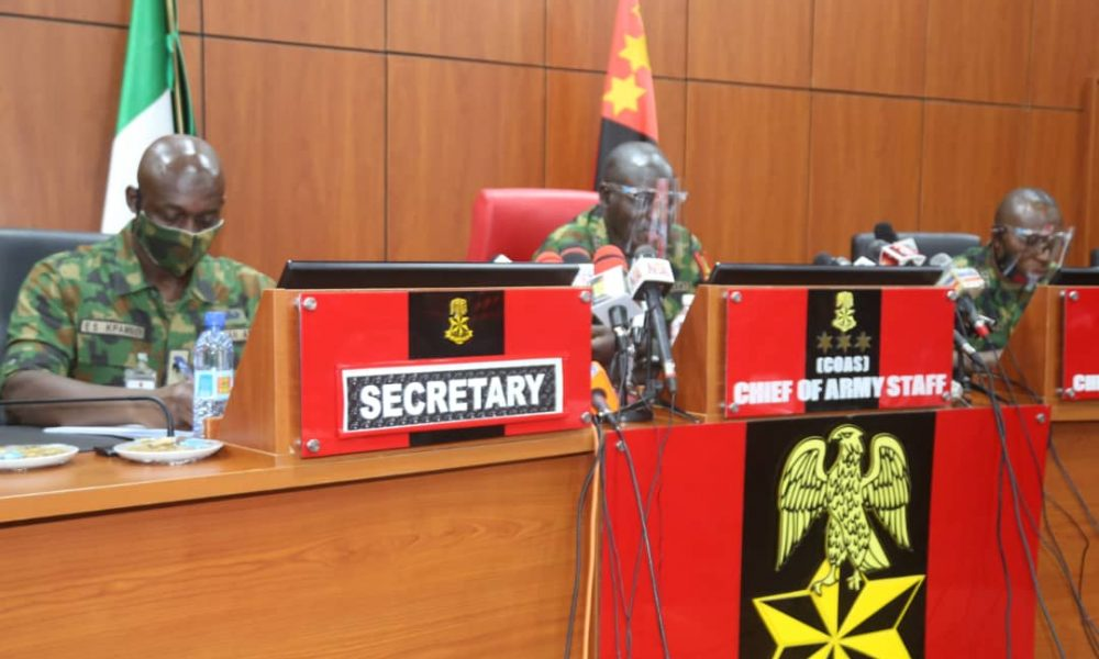 HAPPENING NOW: Chief Of Army Staff Buratai And GOCs In Closed Door Meeting Over National Insecurity - #EndSARS