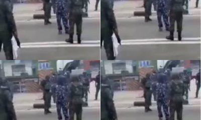 How Airforce Officer Challenged Police Officers For Shooting At Crowd [Video]