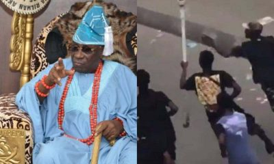 OBA AKIONOLU STOLEN STAFF: Watch As Priests Rain Curses On Hoodlums Who Desecrated The Palace