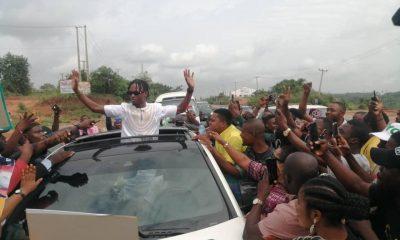 Watch As Huge Crowd Welcomes #BBNaija Winner Laycon To Ogun - #OgunYouthWelcomeLaycon