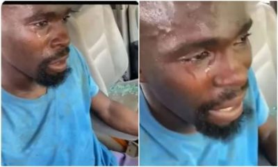 EMOTIONAL MOMENT: Man Sheds Tears After #ProSARS Thugs Destroyed His Car [VIDEO]