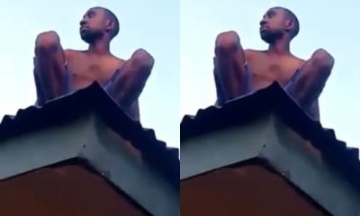 WONDERS!!! Alleged Wizard Returning From Coven Crash Lands On Roof Top [VIDEO]