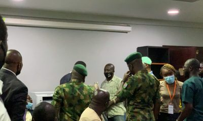 HAPPENING NOW: Army Officers Arrive Venue Of The Lagos Judicial Panel To Show Lekki Shooting Footage - #LekkiMassacre