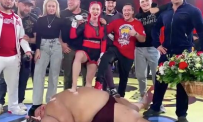 INCREDIBLE!!! Watch As Lightweight Woman Knocks Out 529-Pound Man To Win Inter-Bender MMA Fight