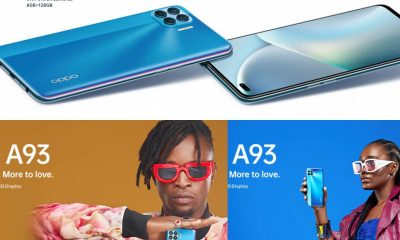 BREAKING: OPPO Releases A93 Smartphone With AI-Powered Portrait Photography, Ultra -Sleek Design And Fast Performance [PHOTOS]