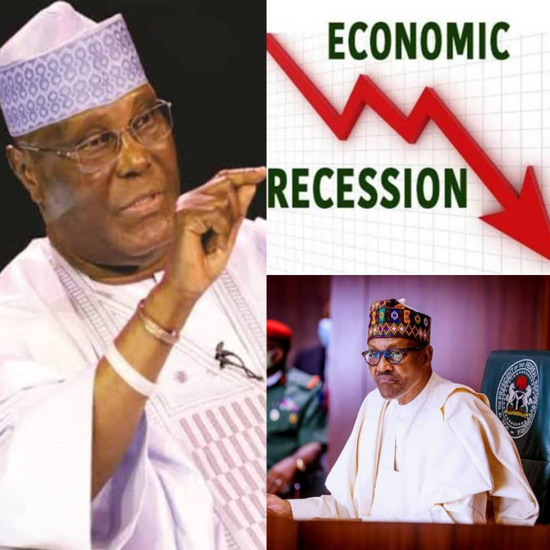 BREAKING: Atiku Tells Buhari To Swallow It's Pride, Gives Solution To Nigeria's Worst Recession Since 1987