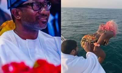 #cuppydat: How Femi Otedola Reacted After Daughter DJ Cuppy Jumped Into An Ocean [VIDEO]