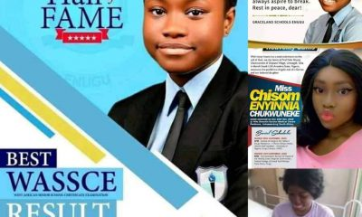 GONE TOO SOON!!! 17-Year-Old Girl Who Got 7 A1s In WAEC Dies