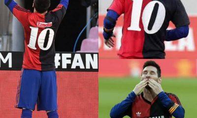 PHOTOS: Lionel Messi Salutes Late Diego Maradona As Barca Thrash Osasuna