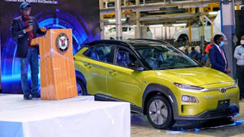 HYUNDAI KONA: Governor Sanwo-Olu Unveils First Electric Car In Nigeria