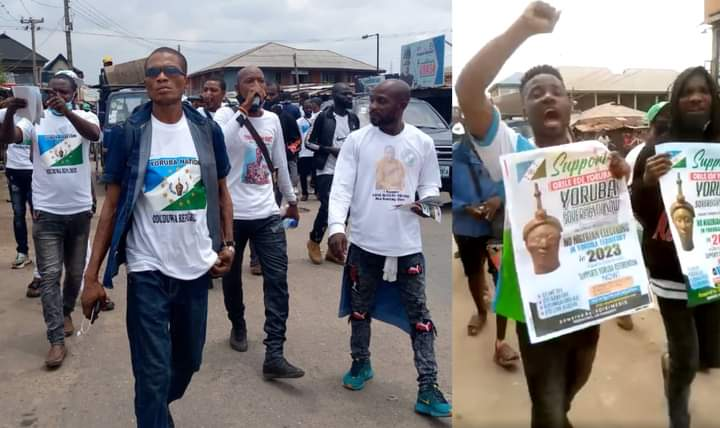 Exciting Moment Youths Storm Alake's Palace After Launching Oduduwa Security Outfit In Ogun [VIDEO]