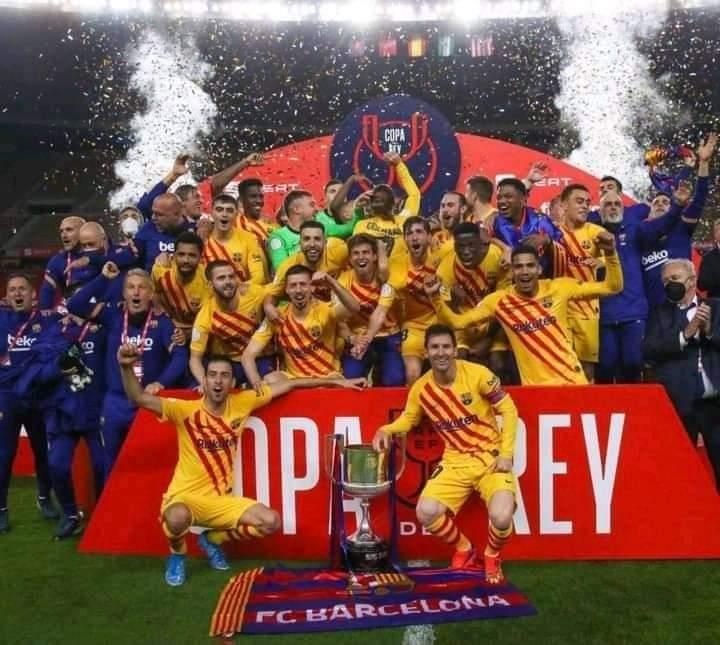 #CopaDelReyFinal: Messi And Barcelona Humiliates Athletic Bilbao To Win Copa del Rey Title