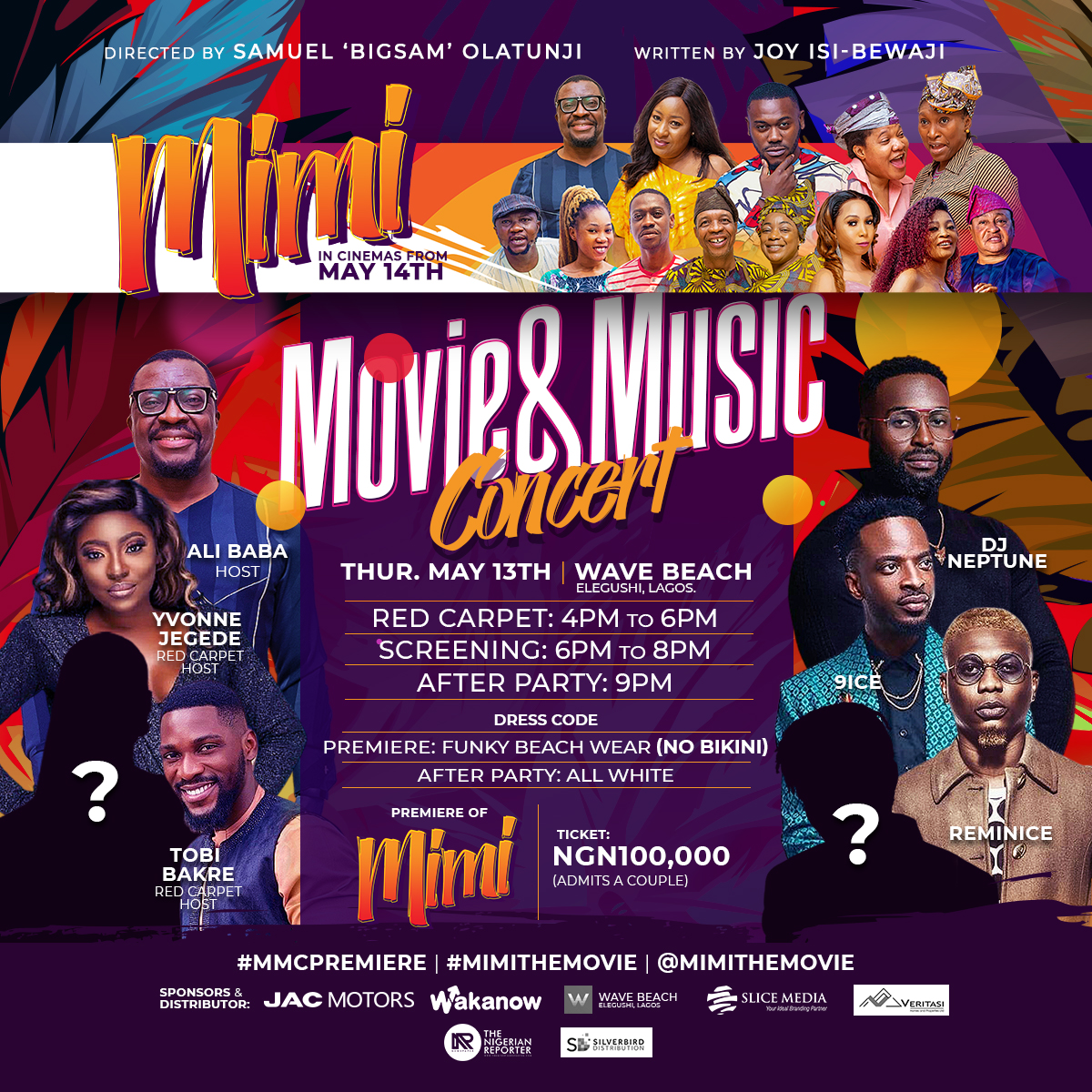 9ice, Reminisce And DJ Neptune For The Premiere Of Mimi
